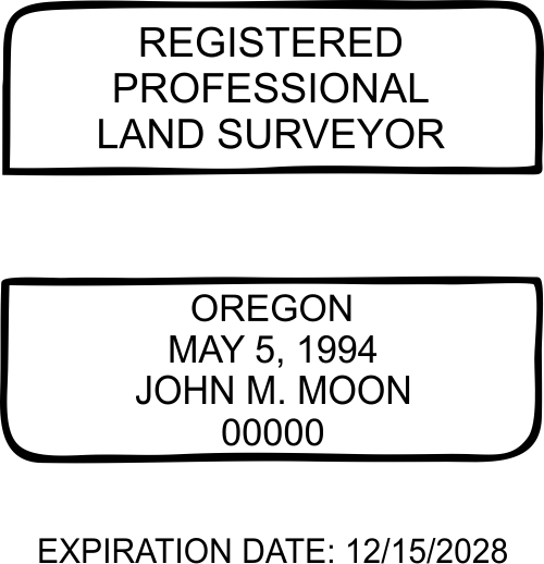 Oregon Land Surveyor Stamp
