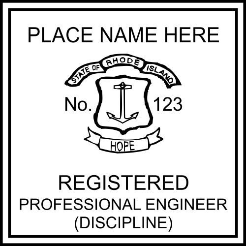 State of Rhode Island Professional Engineer Seal Stamp
