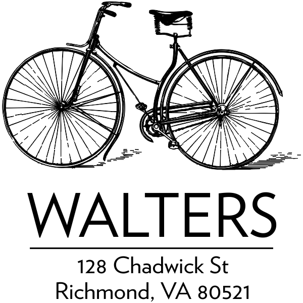 Bicycle address stamp design