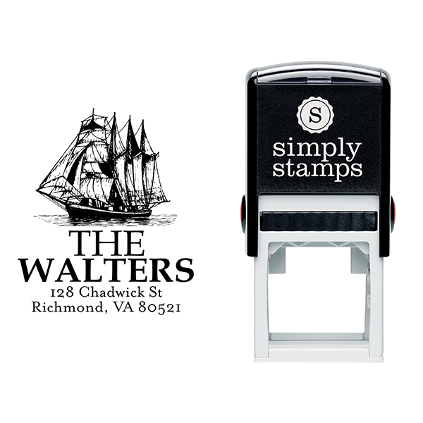 Nautical Ship Return Address Stamp Body and Design