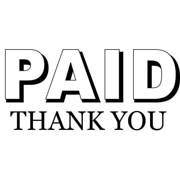 paid thank you rubber stamp design