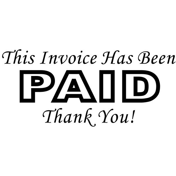 Paid Invoice Thank You Rubber Stamp