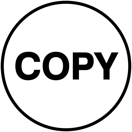 Round Copy Stock Office Rubber Stamp