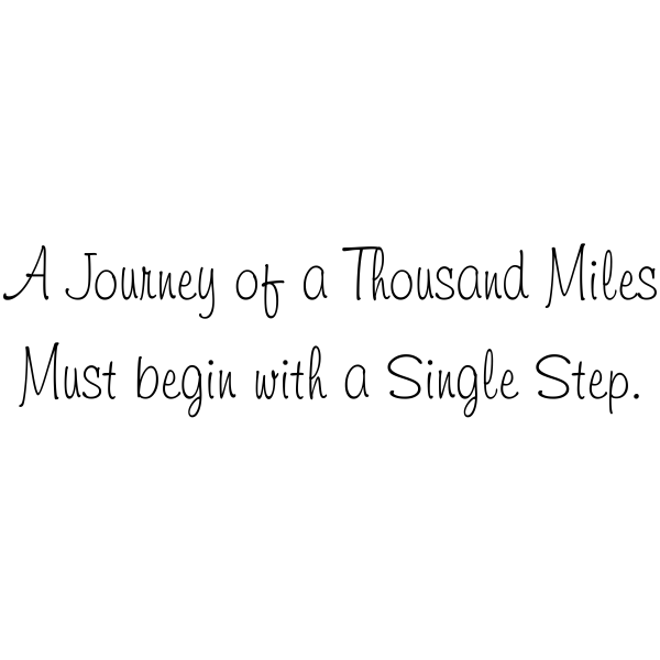 A Journey Thousand Miles Rubber Stamp