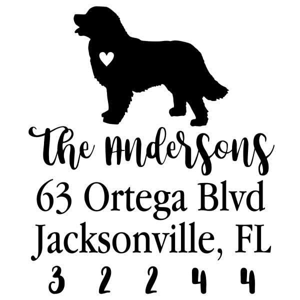 Bernese Mountain Dog Love Address Stamp