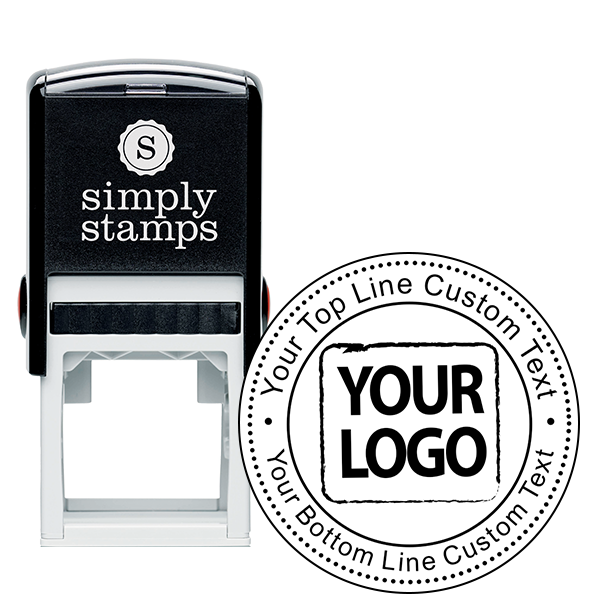 Custom Logo Address Rubber Stamp