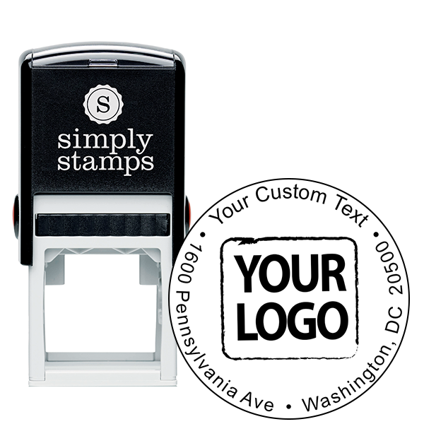 Custom Rubber LogoStamp - Simple Round