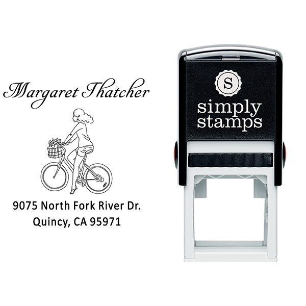 Thatcher Woman Bicycle Address Stamp Body and Design