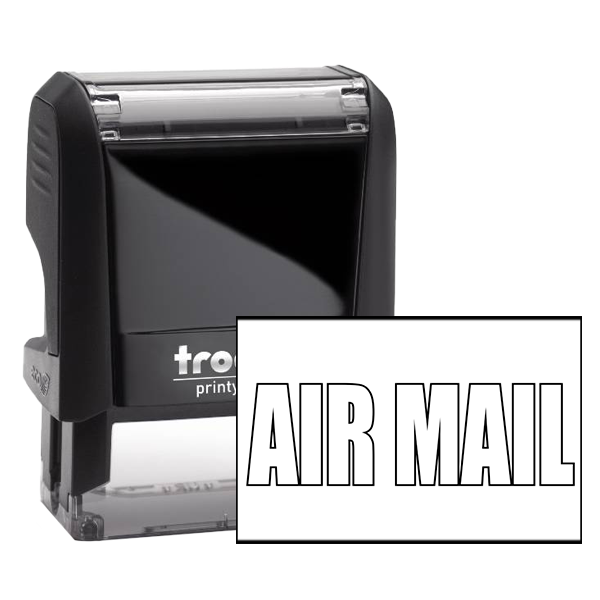 Postal - Air Mail Outline Office Rubber Stamp