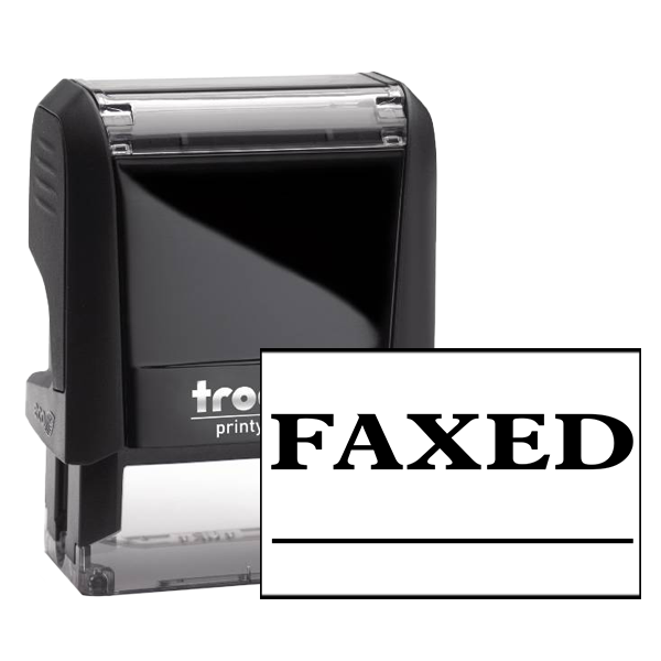 FAXED Underlined Office Rubber Stamp