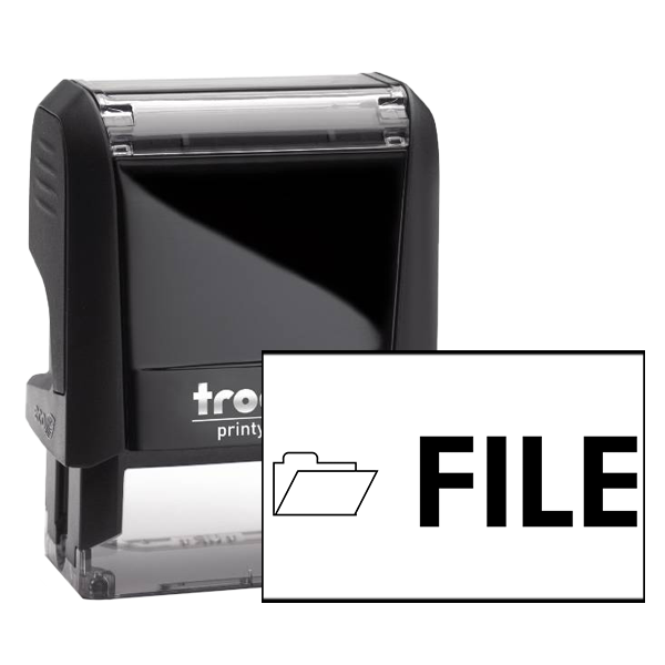 Office File rubber stamp