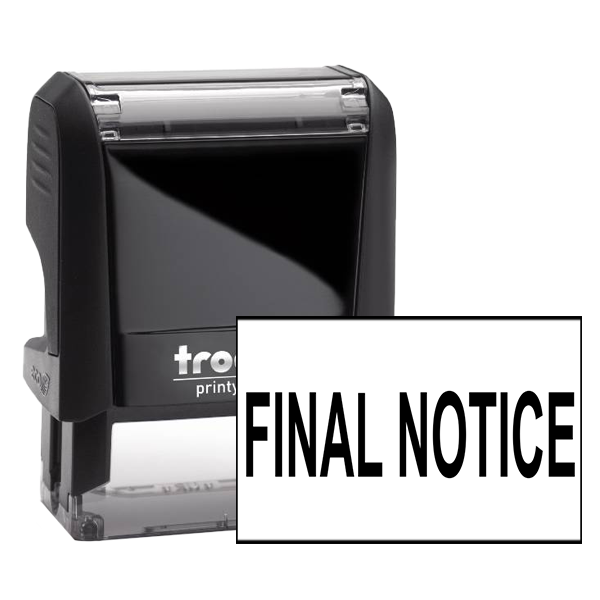 Office Final Notice rubber stamp