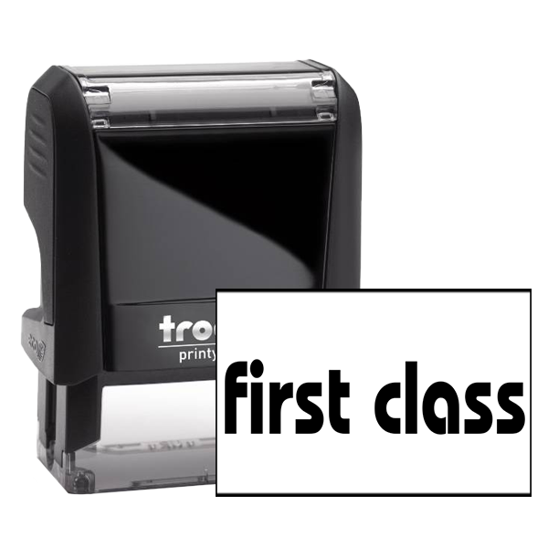 Small First Class Stock Office Rubber Stamp