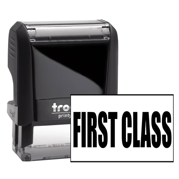 First Class rubber stamper