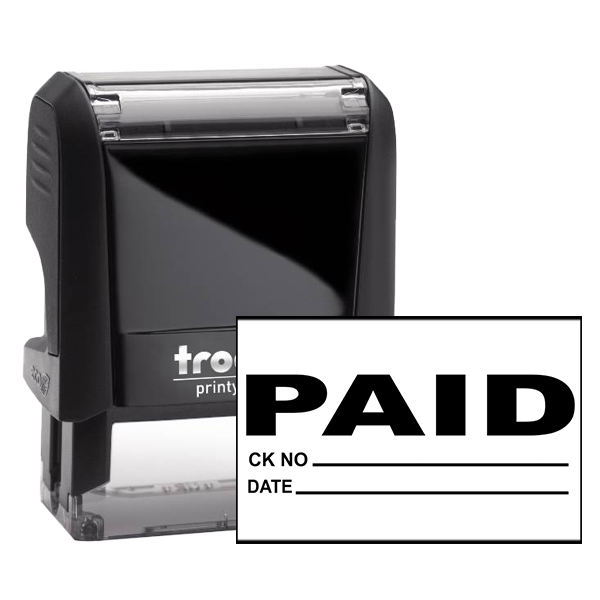 Paid Office Accounting rubber stamp