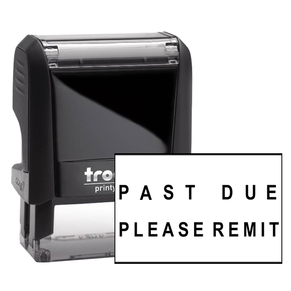Past Due Accounting Office rubber stamp