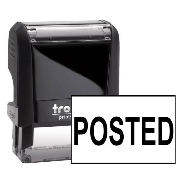 Bold POSTED Stock Office Rubber Stamp