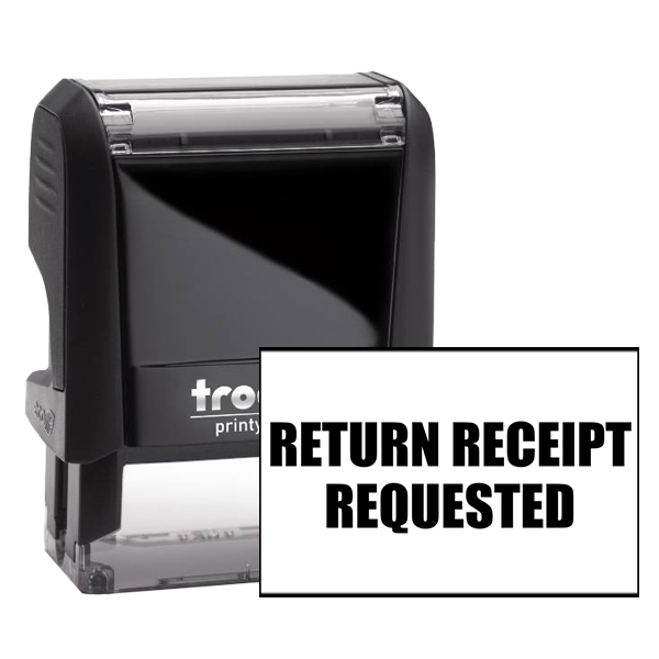 Return Receipt Requested Office stamper