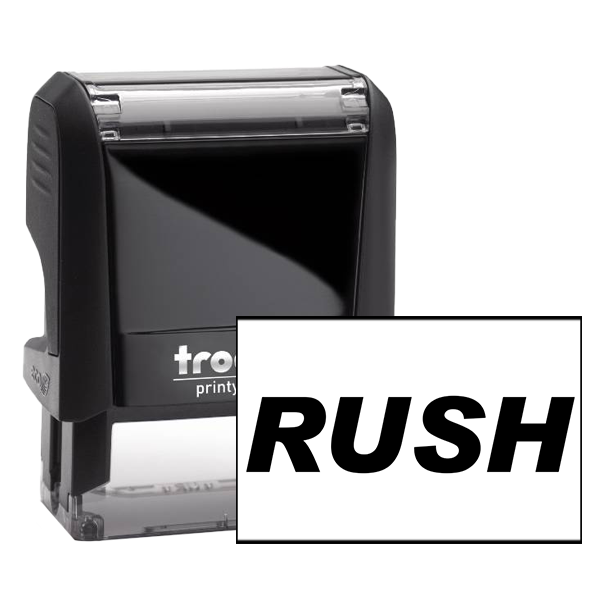 RUSH Bold Stock Office Rubber Ink Stamp