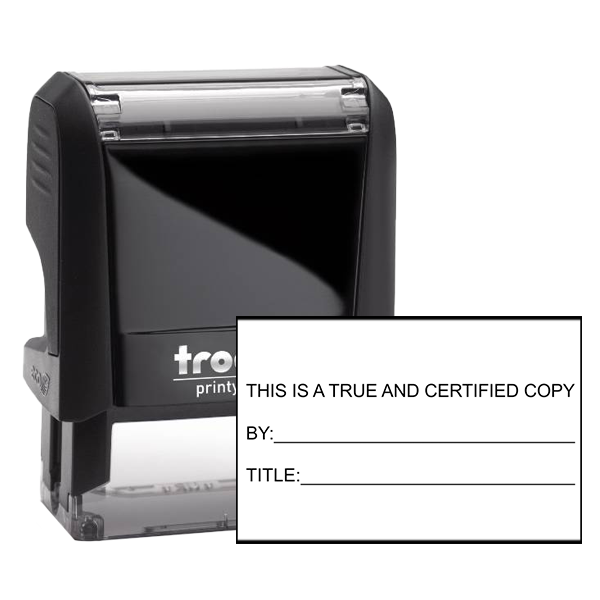 TRUE AND CERTIFIED COPY Rubber Stamp