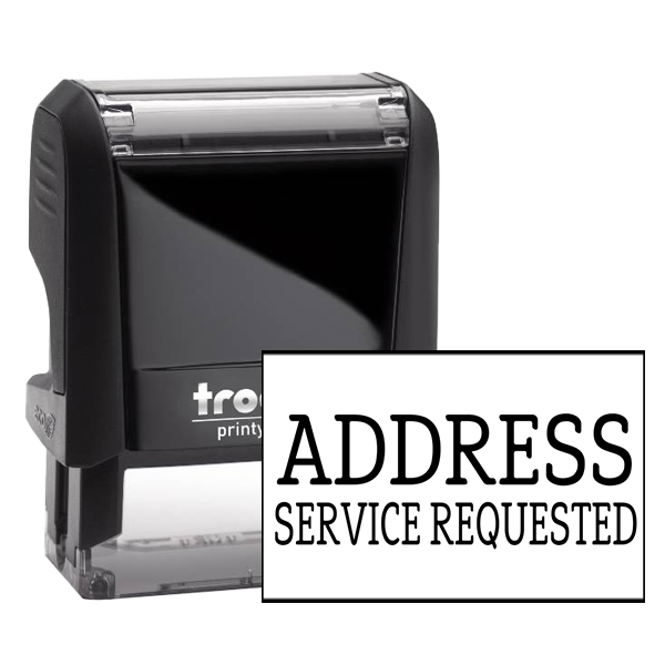 Address Service Requested Rubber Stamp