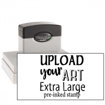 Upload Your Art Extra Large Pre-Inked Stamp