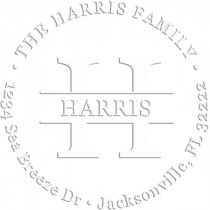 Harris Round Return Address Embosser