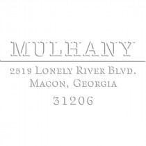 Mulhany Rectangular Return Address Embosser