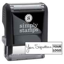 Small Right Logo Signature Stamp