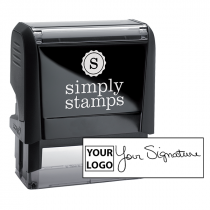 Large Signature Logo Stamp