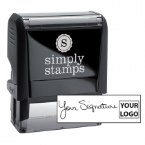 Medium Right Logo Signature Stamp