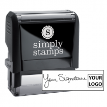 Large Right Logo Signature Stamp