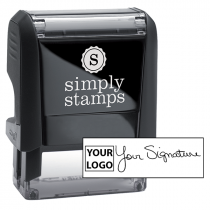 Small Signature Logo Stamp