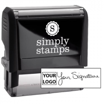 Extra Large Signature Logo Stamp
