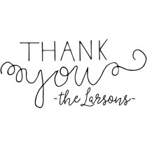 Mix Type Thank You Stamp