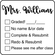 Teacher Submission Stamp