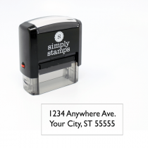 2 line rubber address stamp