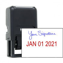Signature Date Custom Rubber Stamp - Date Bottom