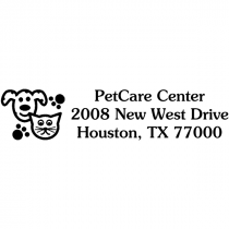 Cat Dog Paws Pet Return Address Stamp