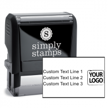 Custom Rubber Logo Stamp with Text