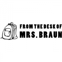 From The Desk Of Bold Backpack Rubber Teacher Stamp