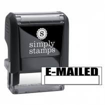 E-MAILED with Box Stock Stamp