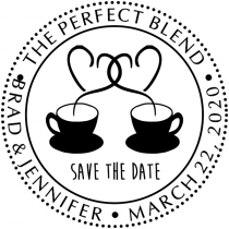 The Perfect Blend Save the Date Stamp