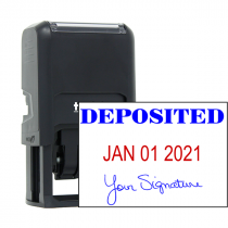 Deposited Signature Date Rubber Stamp