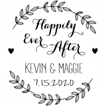 Happily Ever After Wedding Stamp