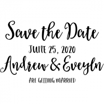Save the Date Announcement Rubber Stamp