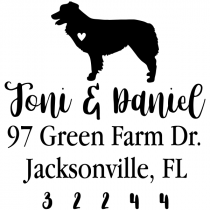 Australian Shepherd Love Address Stamp