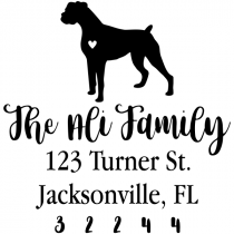 Boxer Love Address Stamp