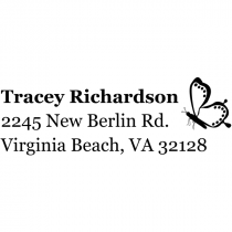 Dotted Butterfly Right Return Address Stamp