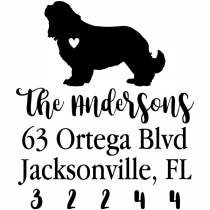 Cavalier King Charles Spaniel Love Address Stamp